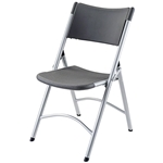 National Public Seating 620 Blow Molded Resin Plastic Folding Chair, Charcoal Slate folding chairs, 600 series, plastic chairs