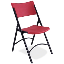 National Public Seating 640 Blow Molded Resin Plastic Folding Chair, Red folding chairs, 600 series, plastic chairs
