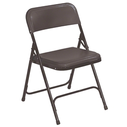 National Public Seating 810 Series Premium Plastic Lightweight Folding Chair, Black folding chairs, plastic chairs, lightweight, 810
