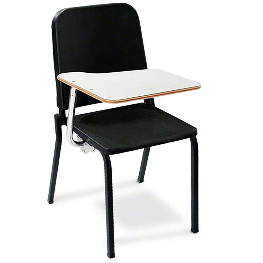 National Public Seating 8210 Melody Stack Chair With Tablet Arm 4 Pack