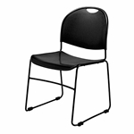 National Public Seating 850-CL Commercialine Ultra-Compact Stack Chair, Black 850 series, commercialine chairs, ultra compact, compact stacking chairs, institutions, cafeterias, dining halls, food service, commercial venues, ganging chairs
