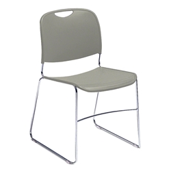 National Public Seating 8500 Series Ultra-Compact Stack Chair stacking chairs, 8500 series, tablet arm, chair book basket