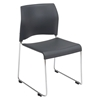 National Public Seating 8820 Cafetorium Plastic Stack Chair, Charcoal