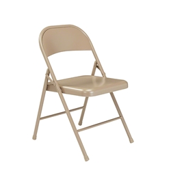 National Public Seating 901 Commercialine All-Steel Folding Chair, Beige folding chairs, 900 series, nps