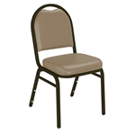 National Public Seating 9201-M Vinyl Dome Stack Chair, French Beige/Mocha restaurant chairs, stacking chairs