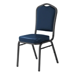 National Public Seating 9304-SV Vinyl Silhouette Stack Chair, Midnight Blue/Silvervein stacking chairs, stackable chairs, banquet chairs