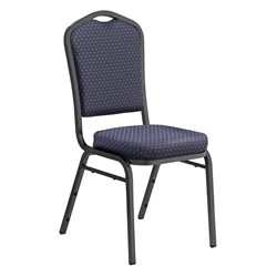 National Public Seating 9364-SV Premium Fabric Stack Chair, Diamond Navy/Silvervein stacking chairs, stackable chairs, banquet chairs