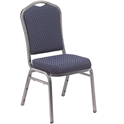 National Public Seating 9364-SV Deluxe Fabric Upholstered Stack Chair, Diamond Navy/Silvervein stacking chairs, stackable chairs, banquet chairs