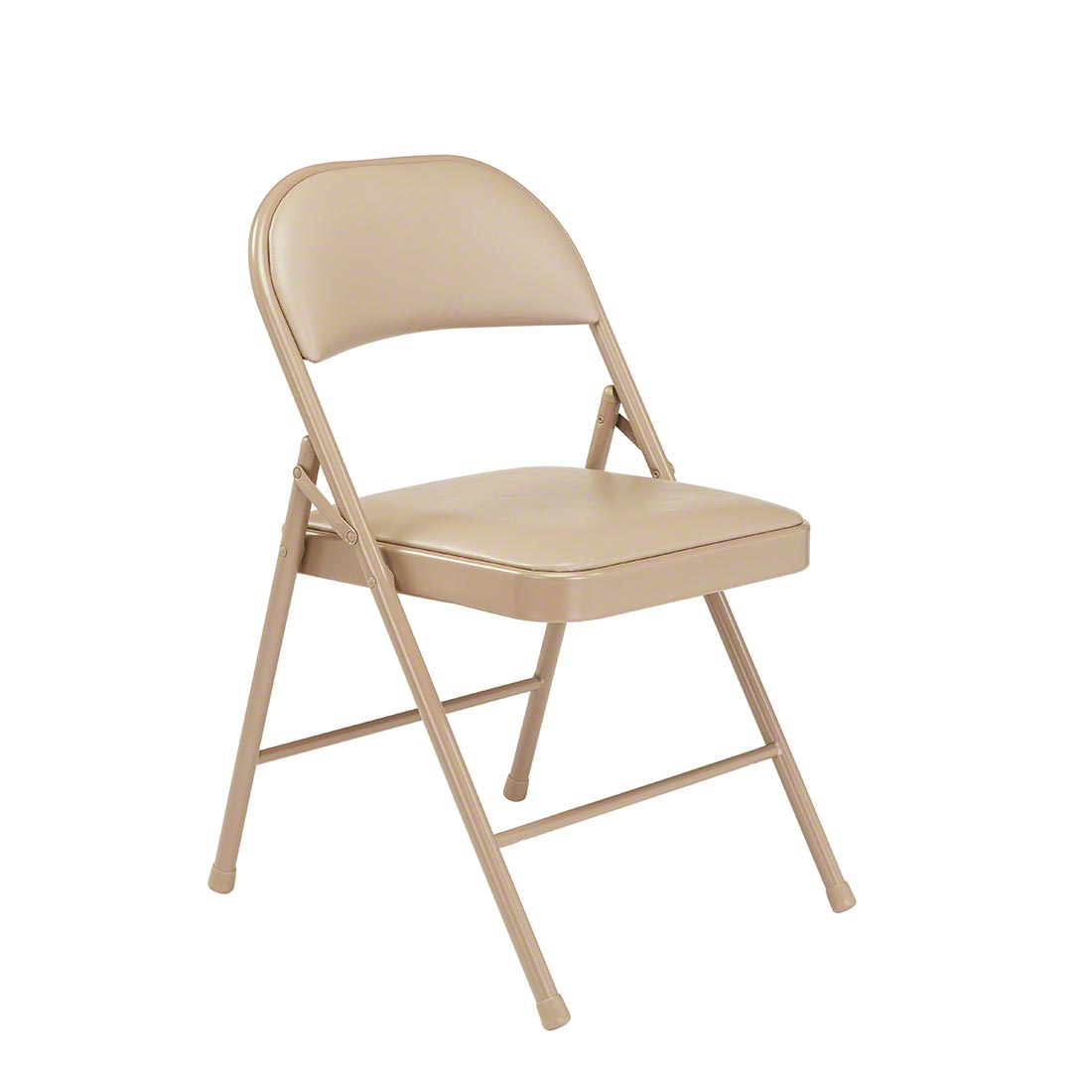 Peachy National Public Seating 951 Commercialine Vinyl Padded Steel Folding Chair Beige Theyellowbook Wood Chair Design Ideas Theyellowbookinfo