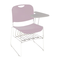 National Public Seating 8500 Series Book Basket for Stack Chairs 8500 series, tablet arm, TA85