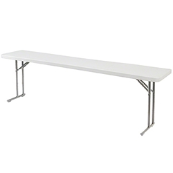 "National Public Seating 18""x96"" Folding Seminar Table bt1800, rectangle, seminar table, 18x96, 96x18"