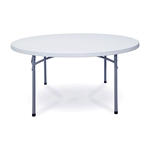 "National Public Seating BT60R 60"" Round Folding Table btr, round, folding table"