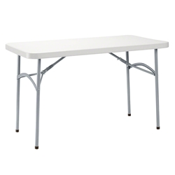 "National Public Seating 24""x48"" Heavy-Duty Folding Table, Speckled Grey bt2448, rectangle, folding table"