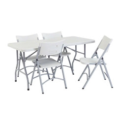 "National Public Seating 30"" x 60"" Rectangular Folding Table & Chairs Package bt3000, rectangle, folding table, 3060, 30x60, 30x60 table, table with chairs, table and chair package, banquets, training"