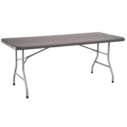 "National Public Seating 30""x72"" Heavy Duty Rectangular Folding Table, Charcoal Slate/Silver bt3000, rectangle, folding table, 72x30"