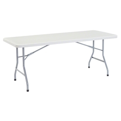 "National Public Seating 30""x72"" Heavy Duty Rectangular Folding Table, Speckled Grey bt3000, rectangle, folding table, 72x30"
