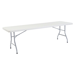 "National Public Seating 30""x96"" Heavy Duty Rectangular Folding Table, Speckled Grey bt3000, rectangle, folding table, 96x30"