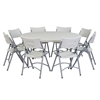 "National Public Seating 60"" Round Folding Table & Chairs Package"