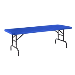 "National Public Seating BTA-3072 30""x72"" Height Adjustable Rectangular Folding Table, Blue bta3072, rectangle, folding table, 72x30"