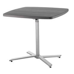 National Public Seating Cafe Time Adjustable Height Table, Charcoal Slate Top & Silver Frame cafe time, cafe time tab;e, cafe table, high top cafe table, high top table, height adjustable table