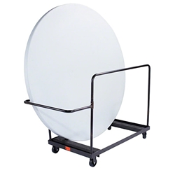 "National Public Seating 71"" Round Folding Table Dolly, Vertical Storage  round table storage, table trolley, transport, round folding table truck"