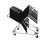National Public Seating DY82 Melody Stack Chair Dolly melody music chair trolley