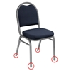 National Public Seating GL92/93 Floor Glides for 9200/9300 Stacking Chairs (50-pack)