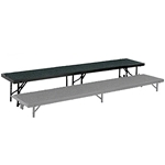 "National Public Seating Straight Riser, 18"" x 96"" Carpeted (16"" High) choral risers, band risers, school risers, straight risers, choir stage risers, standing riser"