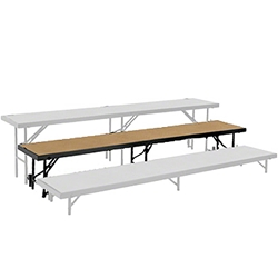 "National Public Seating Straight Riser, 18"" x 96"" Hardboard (16"" High) choral risers, band risers, school risers, straight risers, choir stage risers, standing riser"
