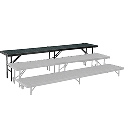 "National Public Seating Straight Riser, 18"" x 96"" Carpeted (24"" High) choral risers, band risers, school risers, straight risers, choir stage risers, standing riser"