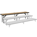 "National Public Seating Straight Riser, 18"" x 96"" Hardboard (24"" High) choral risers, band risers, school risers, straight risers, choir stage risers, standing riser"