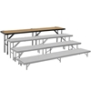"National Public Seating RS32HB 8' Straight Standing Choral Riser, Hardboard, 32"" High"