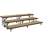 National Public Seating Tapered 3-Level Riser, Hardboard choral risers, band risers, school risers, tapered risers, choir stage risers, standing riser, 3 tier, 3 level