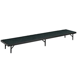 "National Public Seating Straight Riser, 18"" x 96"" Carpeted (8"" High) choral risers, band risers, school risers, straight risers, choir stage risers, standing riser"