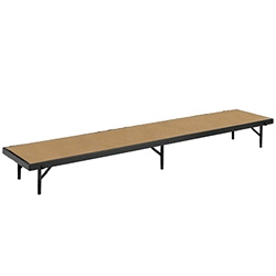 "National Public Seating Straight Riser, 18"" x 96"" Hardboard (8"" High) choral risers, band risers, school risers, straight risers, choir stage risers, standing riser"