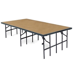 "National Public Seating S4832HB 4x8 Portable Stage with Hardboard Surface, 32"" Height 48x96, 96x48, 48x96x32, 96x48x32, 4x8, 8x4 folding stage, wood platform, portable stage, national public seating"