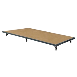 "National Public Seating S488HB 4x8 Portable Stage with Hardboard Surface, 8"" Height 48x96, 96x48, 48x96x8, 96x48x8, 4x8, 8x4 folding stage, wood platform"