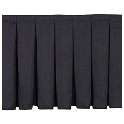 "National Public Seating Box Pleat Stage Skirt for 8"" High Stages stage skirting, platform skirt, platform skirting, 8x8, 8 x 8, 96x8, 8x96, 96 x 8, 8x4, 4 x 8, 48x8, 8x48, 48 x 8, 8x3, 8 x 3, 36x8, 8x36, 36 x 8, nps, box pleat, box pleat skirt"