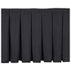 "National Public Seating Box Pleat Stage Skirt for 16"" High Stages"