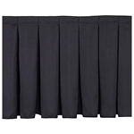 "National Public Seating Box Pleat Stage Skirt for 16"" High Stages stage skirting, platform skirt, platform skirting, 8x16, 8 x 16, 96x16, 16x96, 96 x 16, 8x4, 4 x 8, 48x16, 16x48, 48 x 16, 16x3, 16 x 3, 36x16, 16x36, 36 x 16, nps, box pleat, box pleat skirt"