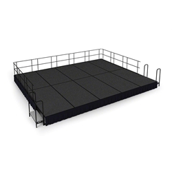 "National Public Seating 16x20 Portable Stage Kit - 16"" High, Carpet 16x20 stage, 20x16 stage, 16 x 20 portable stage kit"