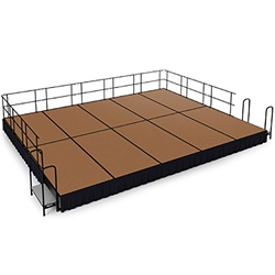 "National Public Seating 16x20 Portable Stage Kit - 16"" High, Hardboard Floor 16x20 stage, 20x16 stage, 16 x 20 portable stage kit"