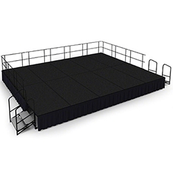 "National Public Seating 16x20 Portable Stage Kit - 24"" High, Carpet 16x20 stage, 20x16 stage, 16 x 20 portable stage kit"