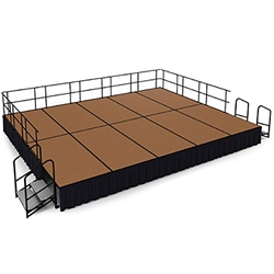 "National Public Seating 16x20 Portable Stage Kit - 24"" High, Hardboard Floor 16x20 stage, 20x16 stage, 16 x 20 portable stage kit"