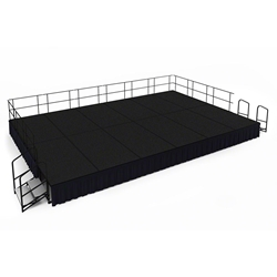 "National Public Seating 16x24 Portable Stage Kit - 24"" High, Carpet 16x24 stage, 24x16 stage, 16 x 24 portable stage kit"