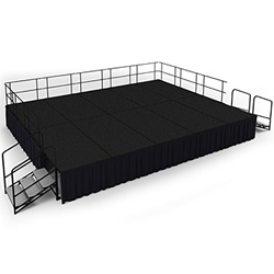 "National Public Seating 16x20 Portable Stage Kit - 32"" High, Carpet 16x20 stage, 20x16 stage, 16 x 20 portable stage kit"
