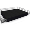 "National Public Seating SG483210C 16'x20' Portable Stage Kit, 32"" High, Carpet"