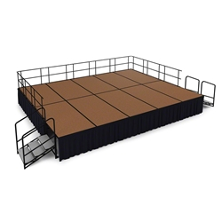 "National Public Seating 16x20 Portable Stage Kit - 32"" High, Hardboard 16x20 stage, 20x16 stage, 16 x 20 portable stage kit"