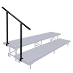 National Public Seating Side Guard Rail for 2-Level Standing Risers guardrails, guard rails, siderails, side rails, 2 level, 2 tier