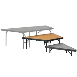 "National Public Seating Seated Riser Stage Pie Tier, 16"" Tall (48"" Deep), Hardboard Surface choral risers, band risers, school risers, seated risers, angle, wedge, NPS, national public seating"